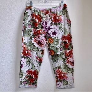 Saturday Sunday Anthropologie | Floral Rose Sweats
